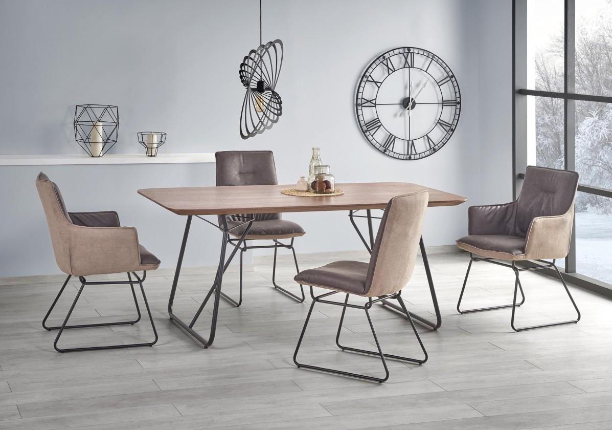 Jedálenský stôl Jedálenský stôl Houston - 180x90x76 cm (ořech/černá)