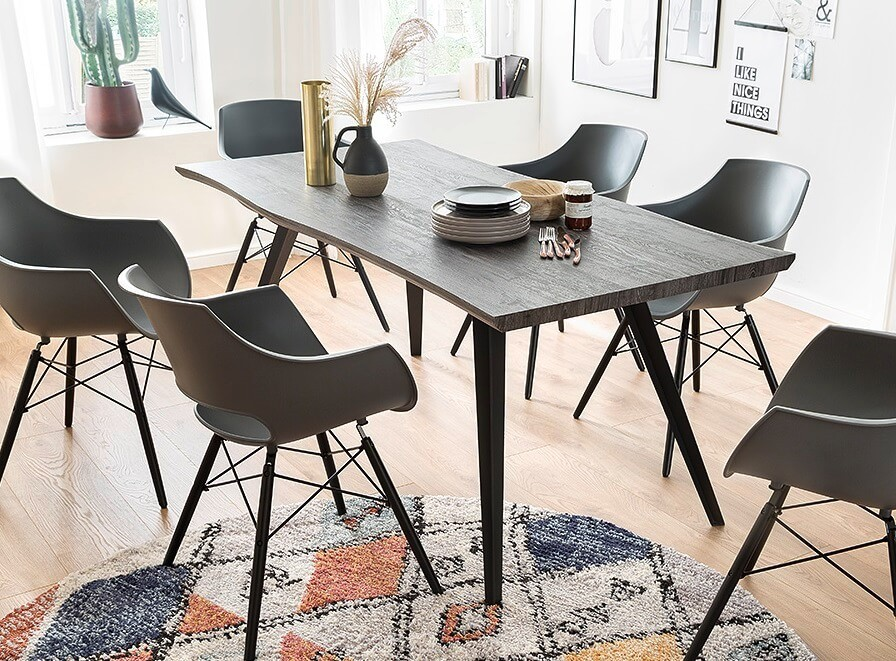 Jedálenský stôl Jedálenský stôl Jerry (dub, čierna)