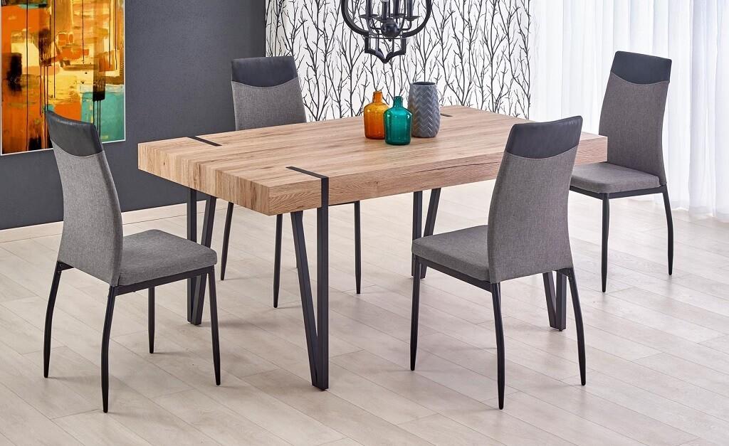 Jedálenský stôl Jedálenský stôl Julian (dub san remo, čierna)
