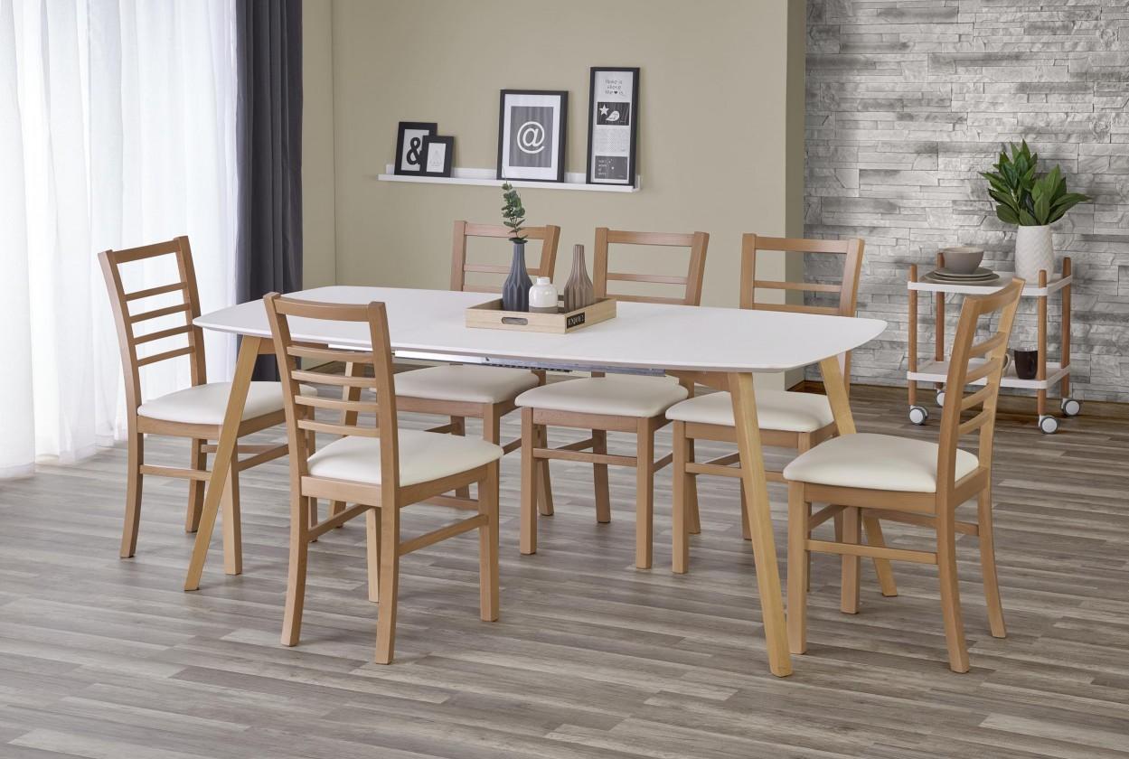 Jedálenský stôl Jedálenský stôl Kajetan - rozkladací (135/185x76x82)