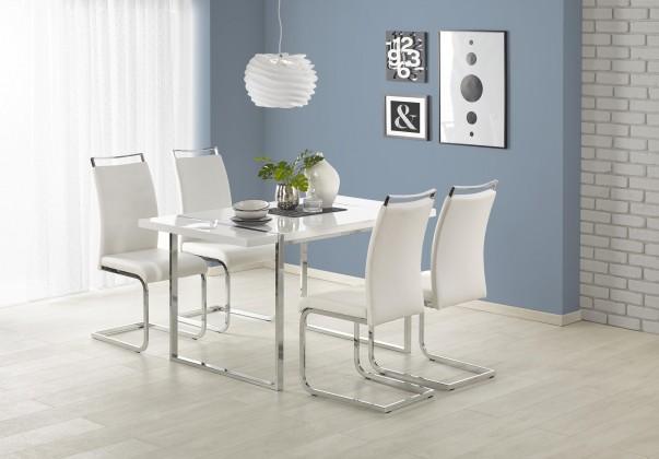 Jedálenský stôl Jedálenský stôl Lion - 140x80x75 cm (bílá/stříbrná)