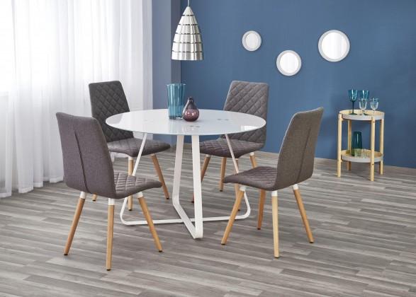 Jedálenský stôl Jedálenský stôl Looper - prům.115x76 cm (bílá)