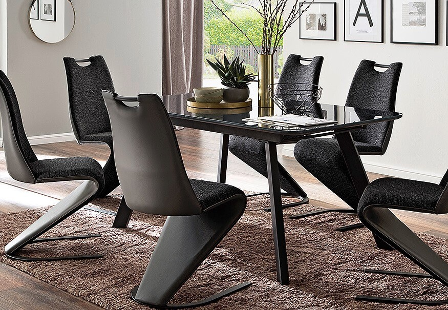 Jedálenský stôl Jedálenský stôl Omero rozkladací (sivá, čierna)