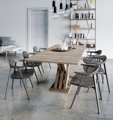 Jedálenský stôl Jedálenský stôl rozkladací Ettore (dub sonoma)