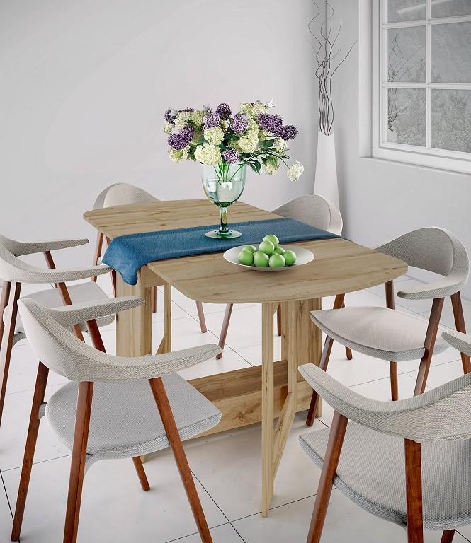 Jedálenský stôl Jedálenský stôl rozkladací Jannick (dub dakota)