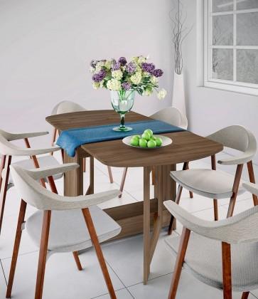 Jedálenský stôl Jedálenský stôl rozkladací Jannick (orech admiral)