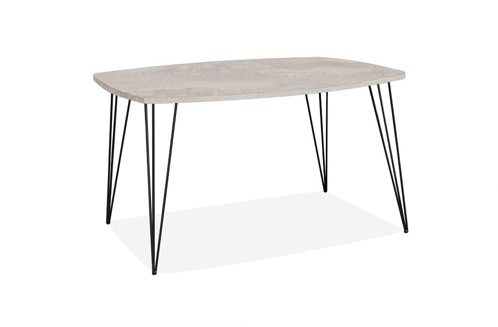 Jedálenský stôl Jedálenský stôl Terry (svetlý beton, čierna)