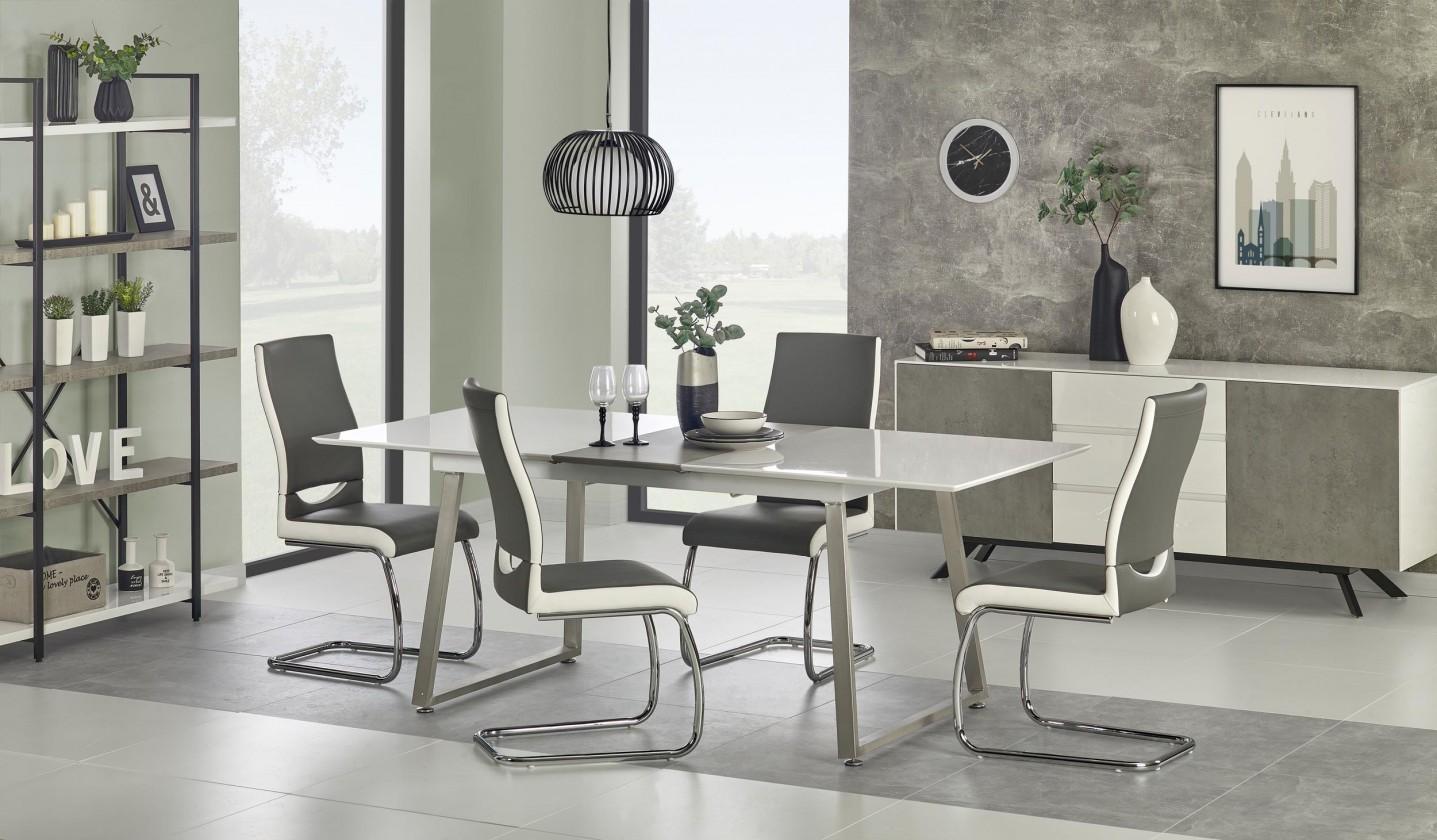 Jedálenský stôl Jedálenský stôl Thomas - 160-200x90x75 cm (bílá/beton)