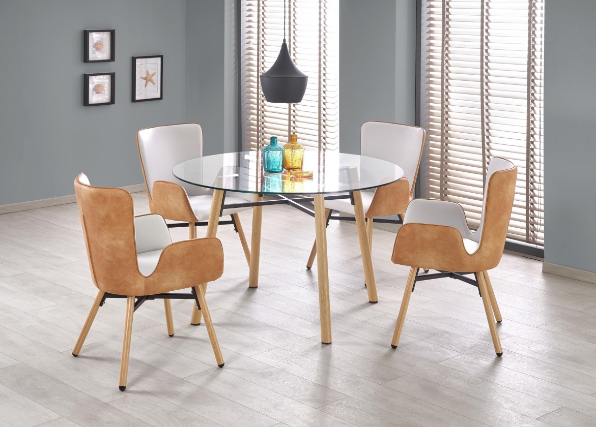Jedálenský stôl Jedálenský stôl Yukon - průměr 120 cm (čirá/buk)