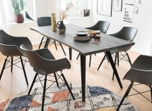 Jedálenský stôl Jerry (dub, čierna)