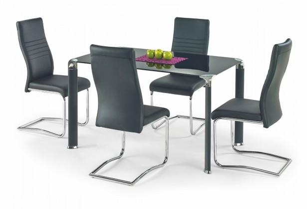 Jedálenský stôl Jim - Jedálenský stôl 130x80 cm (čierna)