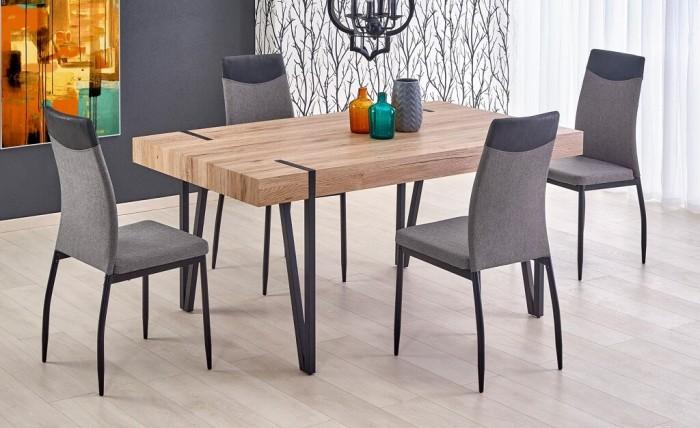 Jedálenský stôl Julian (dub san remo, čierna)