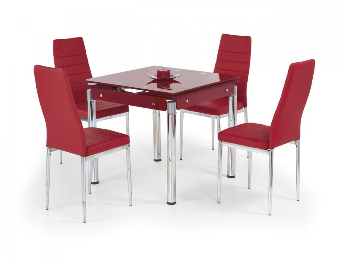 Jedálenský stôl Kent - Jedálenský stôl (červená)