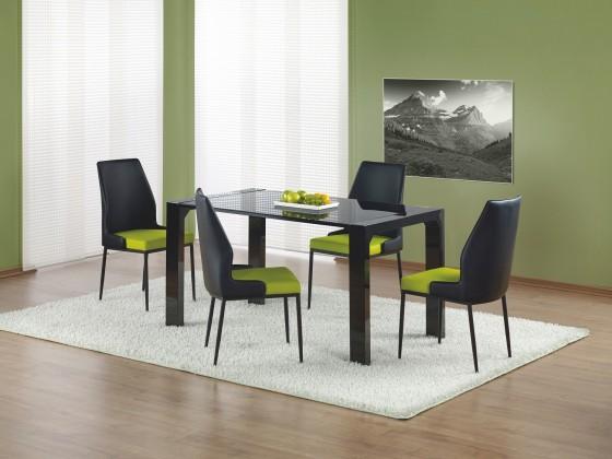 Jedálenský stôl Kevin  - jedálenský stôl (sklo - čierna/čierna)