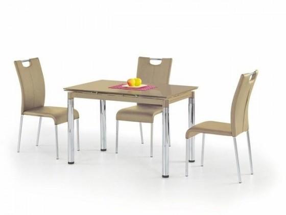 Jedálenský stôl L 31 (sklo - béžová / oceľ)