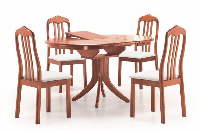 Jedálenský stôl Leroy - Jedálenský stôl 106-140x106 cm (antická čerešňa)