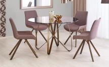 Jedálenský stôl Liam (hnedá, zlatá)