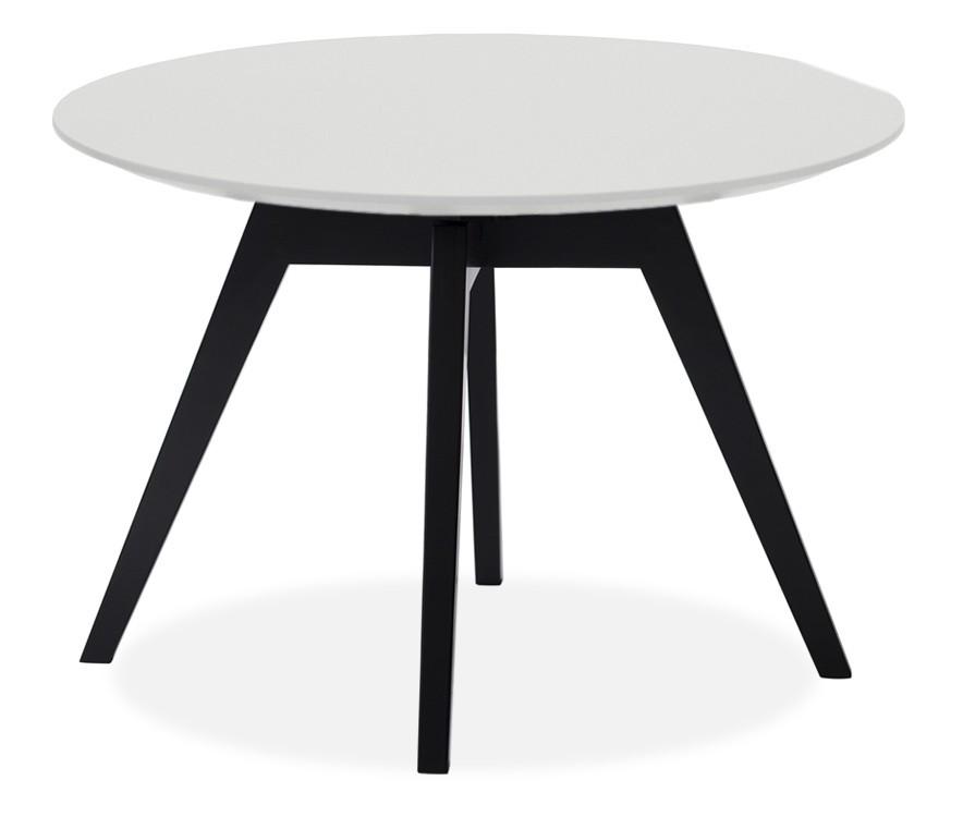 Jedálenský stôl LOLA 9306-001+BESS 9317-024 (biela,čierna)