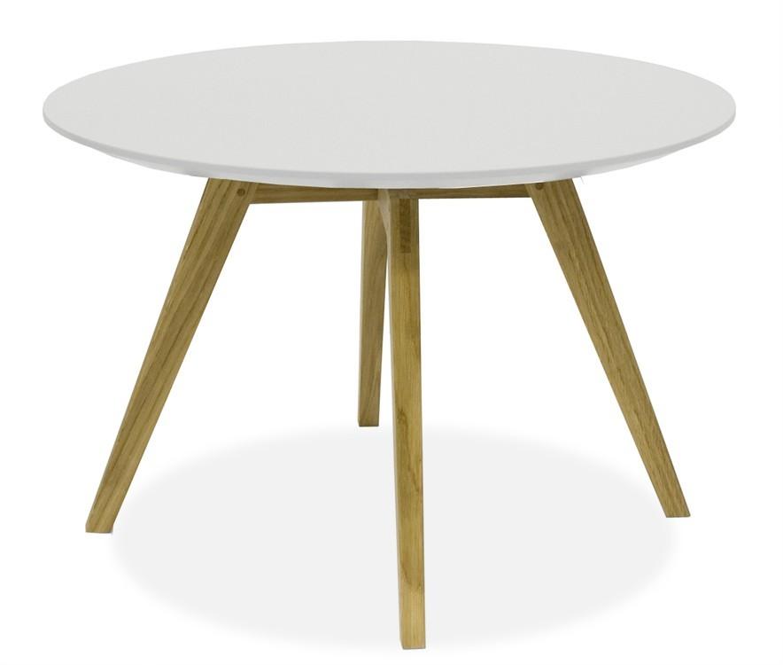 Jedálenský stôl LOLA 9306-001+BESS 9317-054 (biela,dub)