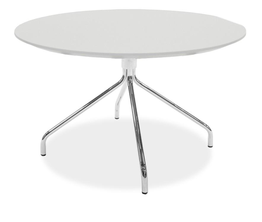Jedálenský stôl LOLA 9306-001+EGO 9319-091 (biela,chróm)