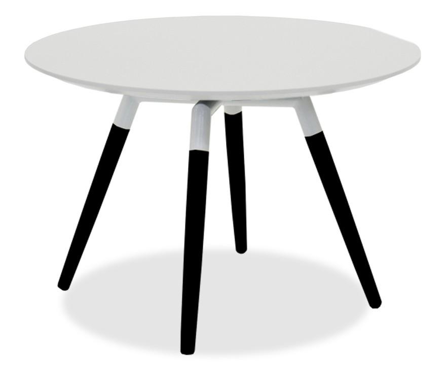 Jedálenský stôl LOLA 9306-001+FIDO 9315-424 (biela,čierna)