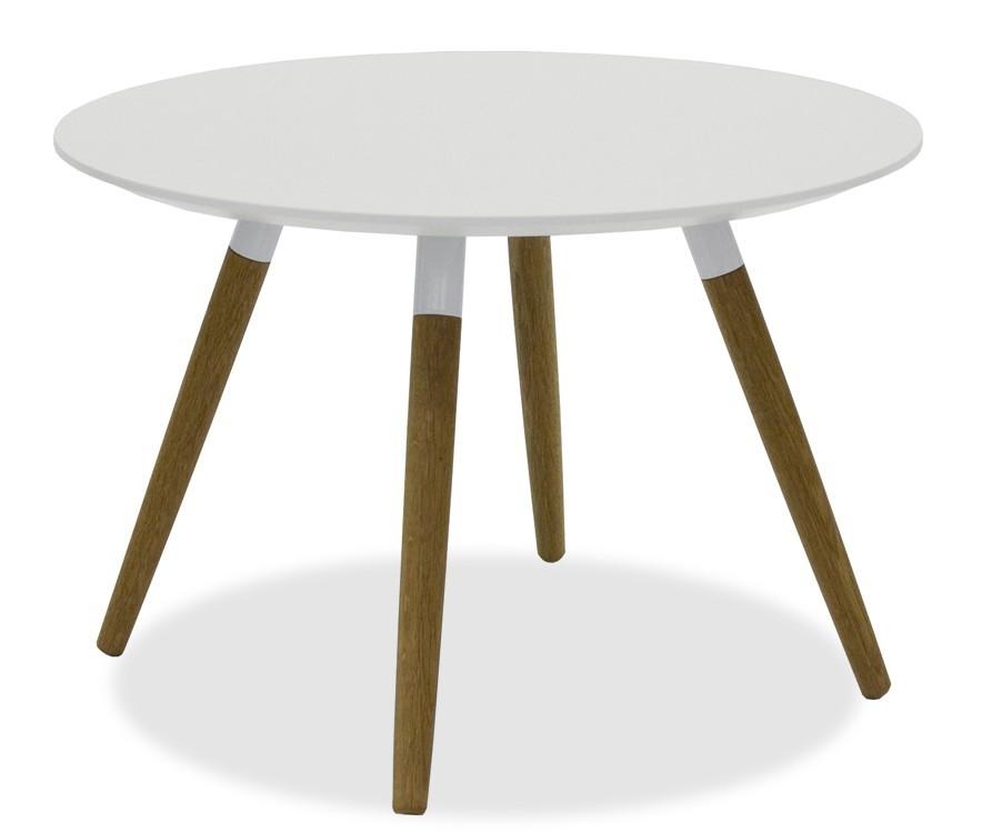 Jedálenský stôl LOLA 9306-001+FIDO 9315-454 (biela,dub)