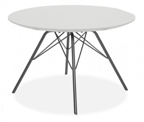 Jedálenský stôl LOLA 9306-001+PORGY 9316-824 (biela,čierna)