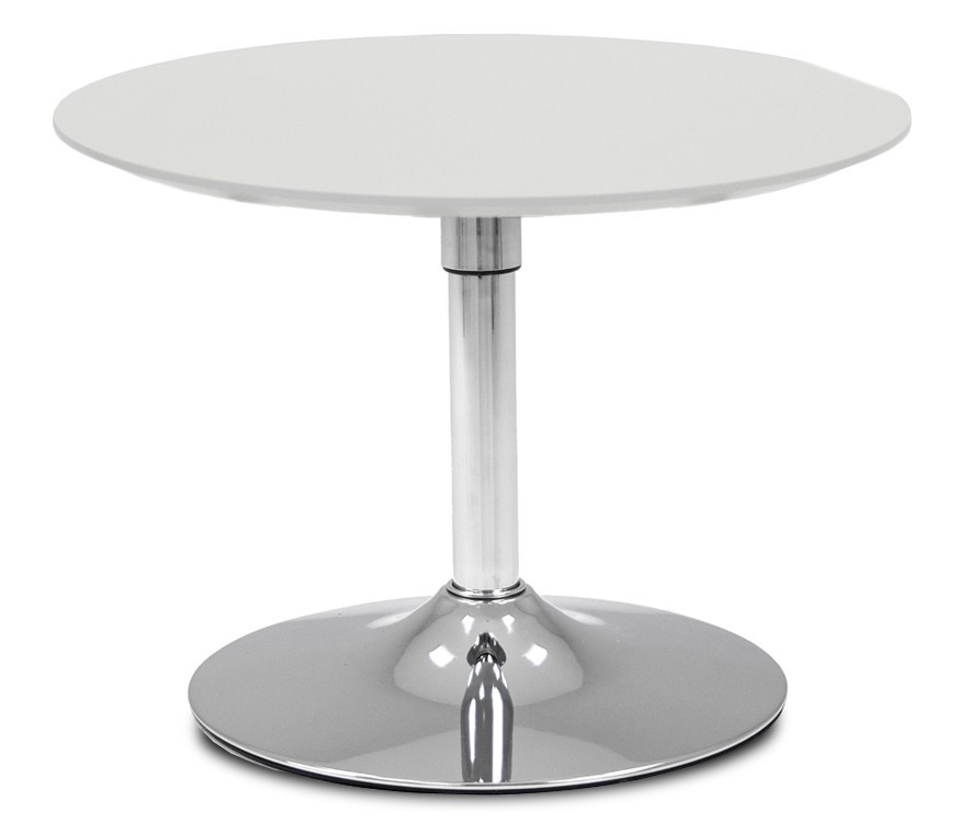 Jedálenský stôl LOLA 9306-001+TRUMPET 9341-091 (biela,chróm)