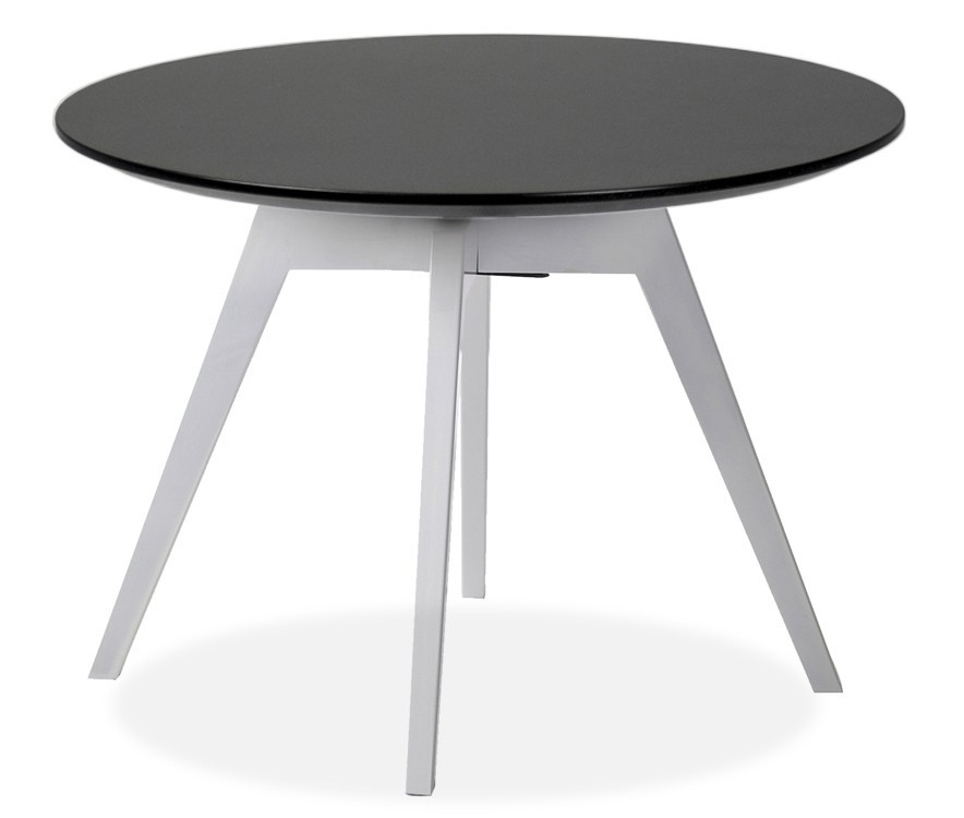 Jedálenský stôl LOLA 9306-024+BESS 9317-001 (čierna,biela)
