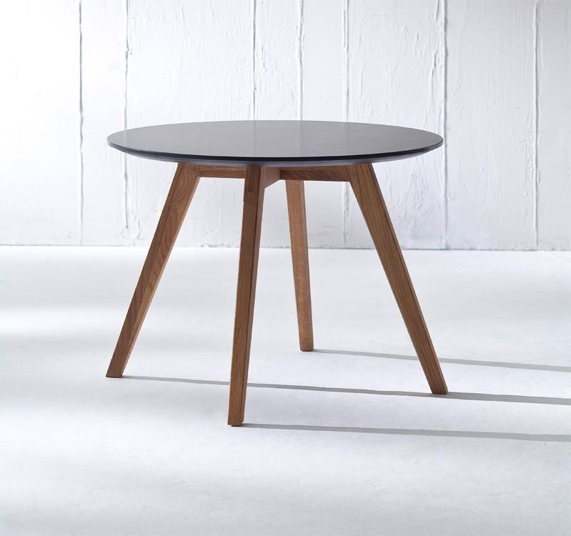 Jedálenský stôl LOLA 9306-024+BESS 9317-054 (čierna,dub)