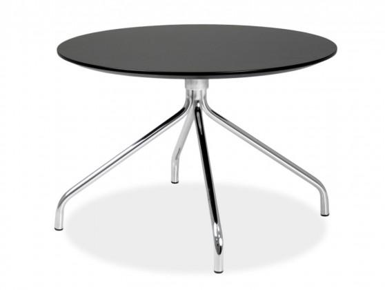 Jedálenský stôl LOLA 9306-024+EGO 9319-091 (čierna,chróm)