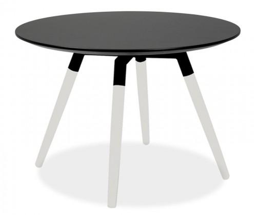 Jedálenský stôl LOLA 9306-024+FIDO 9315-101 (čierna,biela)