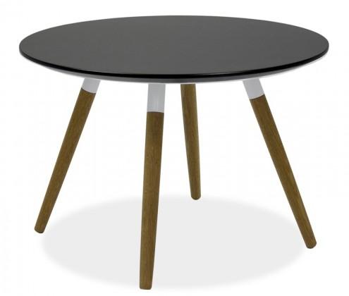 Jedálenský stôl LOLA 9306-024+FIDO 9315-454 (čierna,biela,dub)