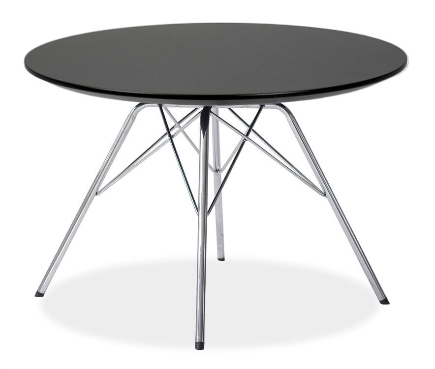 Jedálenský stôl LOLA 9306-024+PORGY 9316-091 (čierna,chróm)