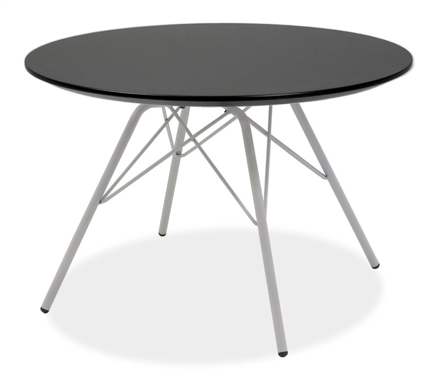 Jedálenský stôl LOLA 9306-024+PORGY 9316-801 (čierna,biela)
