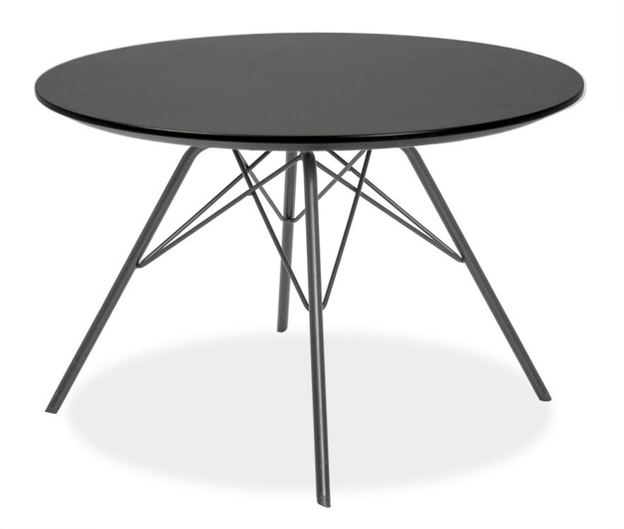 Jedálenský stôl LOLA 9306-024+PORGY 9316-824 (čierna)