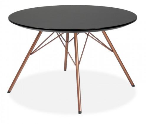 Jedálenský stôl LOLA 9306-024+PORGY 9316-889 (čierna,meď)