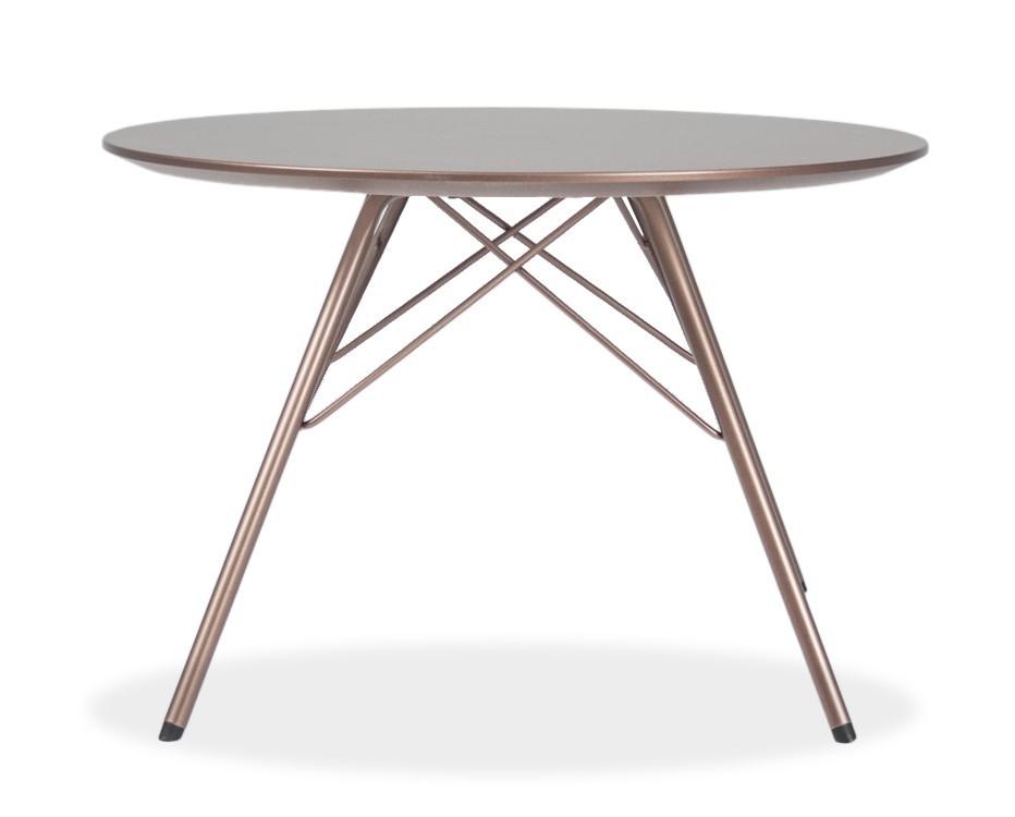 Jedálenský stôl LOLA 9306-088+PORGY 9316-888 (bronz)