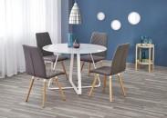 Jedálenský stôl Looper - prům.115x76 cm (bílá)