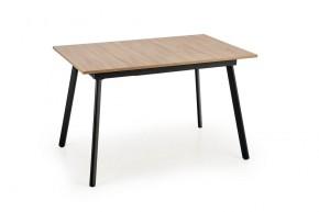 Jedálenský stôl Lopez rozkladací (dub sonoma, sivá, čierna)