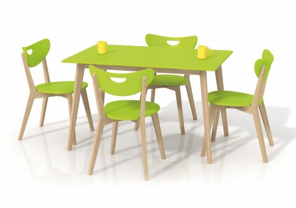 Jedálenský stôl Lorrita (zelená / masív)