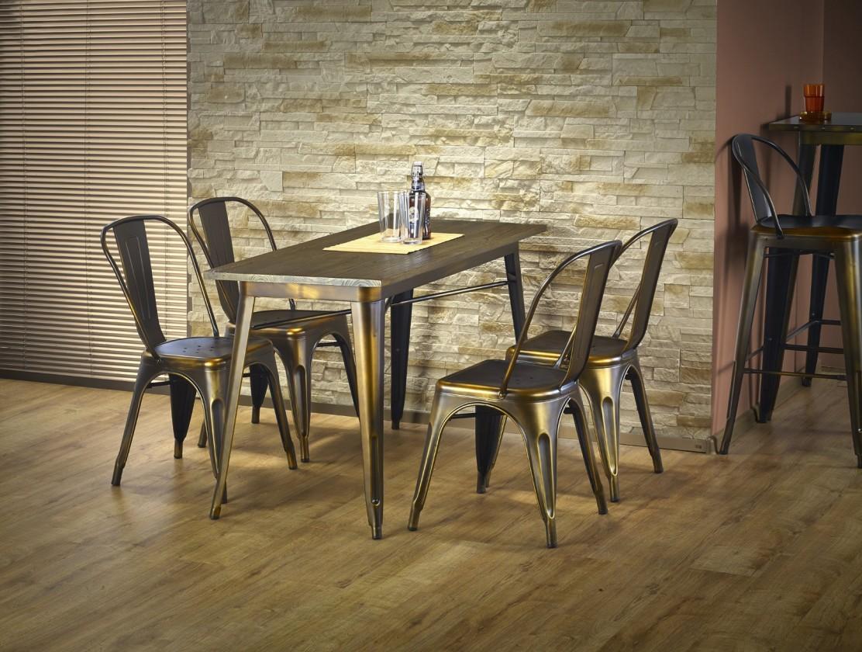 Jedálenský stôl Magnum - Jedálenský stôl obdĺžnik 120x60 cm (medená)
