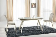 Jedálenský stôl Maximus (sklo,béžová) - II. akosť