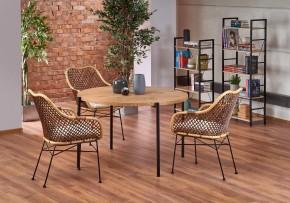 Jedálenský stôl Milo (dub, čierna)
