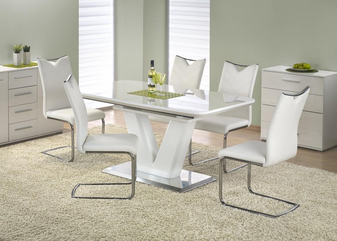 Jedálenský stôl Mistral - Jedálenský stôl 160 - 220x90 cm (biely lak)