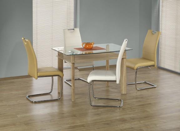 Jedálenský stôl Murano - Jedálenský stôl 120x80 cm (dub sonoma, číre sklo)