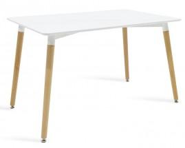 Jedálenský stôl Neli (120x76x80 cm, biela)