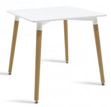 Jedálenský stôl Neli (80x76x80 cm, biela)