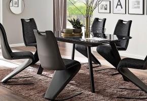 Jedálenský stôl Omero rozkladací (sivá, čierna)