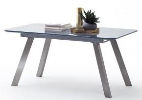 Jedálenský stôl Omero rozkladací (sivá, strieborná)